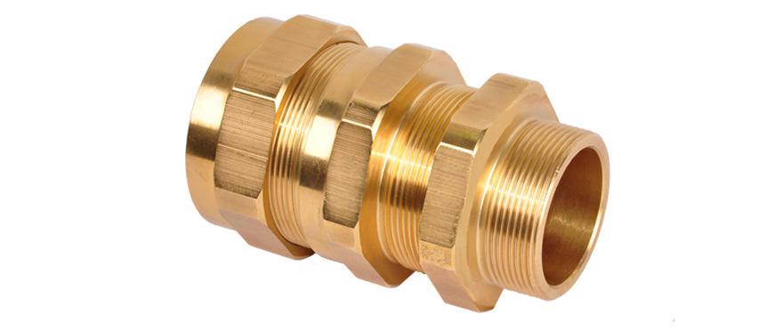 Взрывозащищенный кабельный ввод серии АС с заливкой компаундом под все типы бронированного кабеля круглого сечения