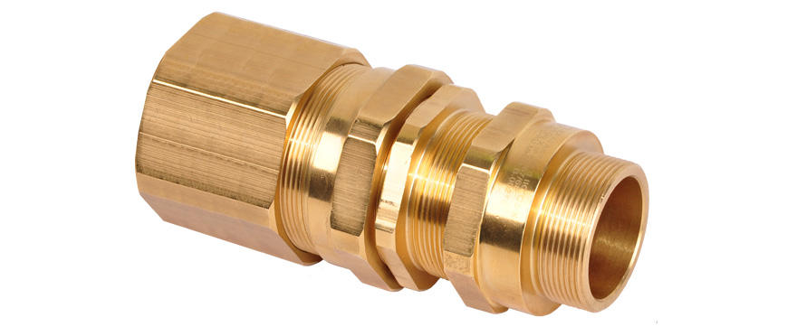 Взрывозащищенный кабельный ввод серии АКР под все типы бронированного кабеля круглого сечения, проложенного в трубе или гибком металлорукаве