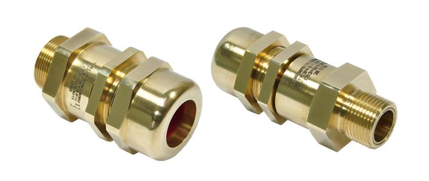 Взрывозащищенный кабельный ввод серии НС с заливкой компаундом под все типы небронированного кабеля круглого сечения