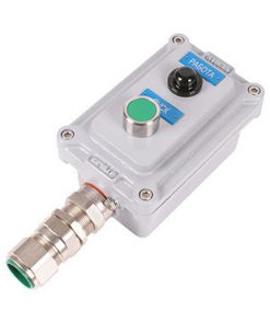 Пост с двумя элементами индикации/управления и возможностью установки 2-ух кабельных вводов