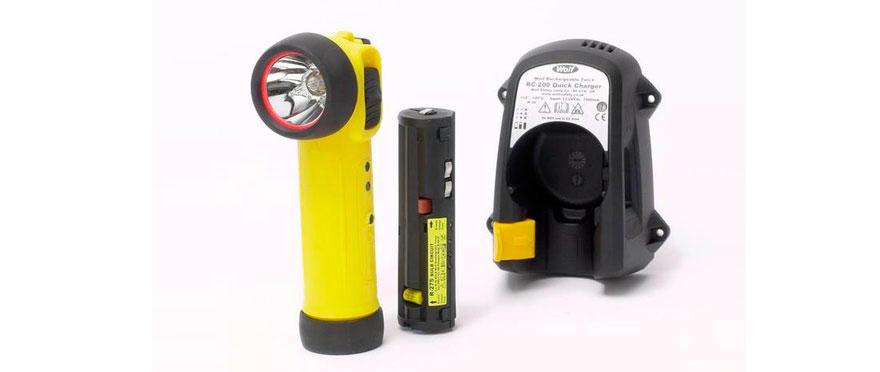 Wolf ATEX взрывобезопасный аккумуляторный фонарь R30/R50
