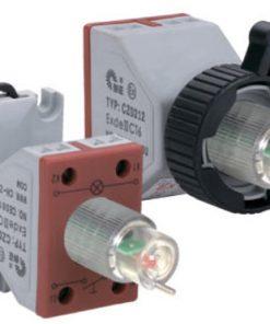 Блок контактный с лампой сигнальной для кнопки с подсветкой типа CZ0212-***